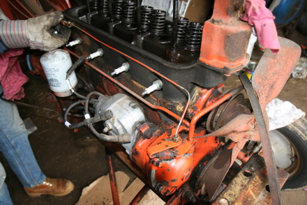 allis chalmers  tractor engine rebuild