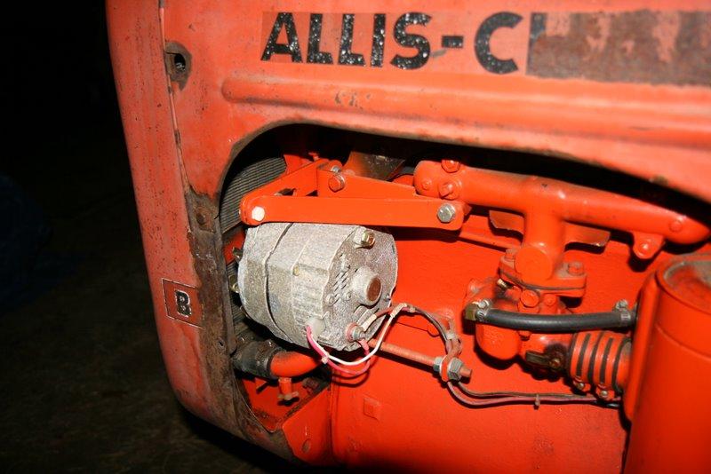 squid's fab shop allis chalmers b alternator conversion