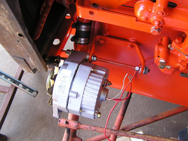 alternator hung onto the engine allis chalmers b conversion