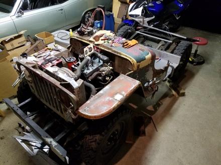 1950 Willys Jeep Cj3a Bodywork Part 1