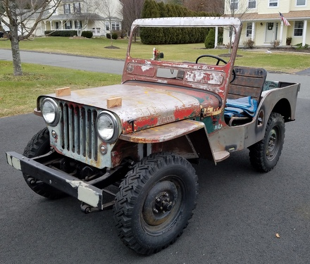 Recently revived Willys Jeep CJ3A 1950