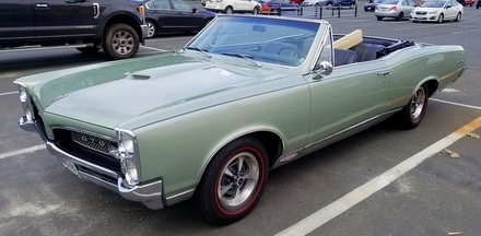 1967 GTO with DIY brushed trim rings