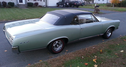1967 Convertible GTO with new top